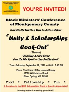 Unity & Scholarships Cook-Out @ The Home of Rev. James Boney